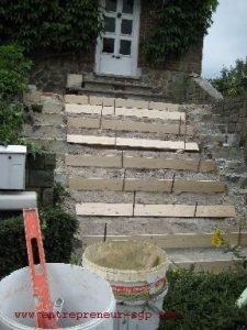 Rénovation extérieure des escaliers d'entrée par Ets SGP