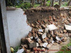 Rénovation d'un muret en pierre