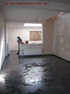 Carrelage rénové par l'entreprise de rénovation SGP