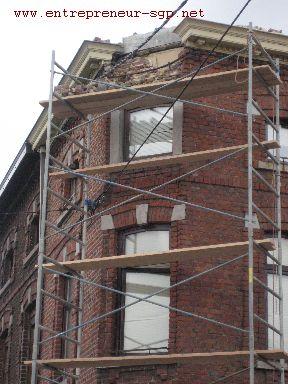 Rénovation extérieure d'une façade