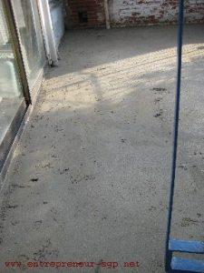 Terrasse à rénover par l'entreprise de rénovation dans le Hainaut SGP